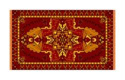 Molde colorido para o tapete, matéria têxtil Teste padrão floral oriental com quadro ilustração do vetor