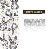 Molde com Bunny Head para o dia feliz da Páscoa Fotos de Stock Royalty Free