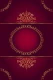 Menu ou convite elegante do projeto Fotos de Stock Royalty Free