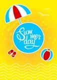 molde com dia de verão da rotulação Fotos de Stock Royalty Free