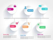 Molde com o globo para o uso da Web O botão do menu com símbolo da casa, E-loja, presta serviços de manutenção, sobre nós, FAQ, a Foto de Stock Royalty Free