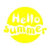 Molde com o verão da frase olá! lettering Luz do vetor art Imagem de Stock Royalty Free