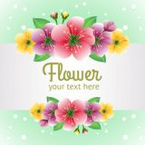 Molde com tema da flor ilustração do vetor