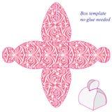 Molde cor-de-rosa da caixa com punho, nenhuma colagem necessário Ilustração do Vetor
