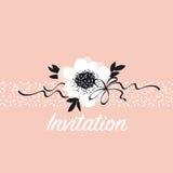 Molde cor-de-rosa do cartão das flores do sumário pálido da cor ilustração royalty free