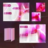 Molde cor-de-rosa do folheto ilustração do vetor