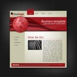 Molde corporativo do Web site do negócio Imagem de Stock