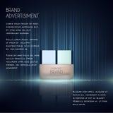 Molde cosmético dos anúncios, garrafa da essência Fotos de Stock Royalty Free