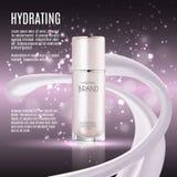 Molde cosmético dos anúncios, garrafa da essência Fotografia de Stock