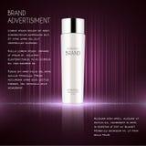 Molde cosmético dos anúncios, garrafa da essência Foto de Stock Royalty Free