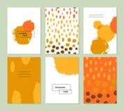 Molde criativo artístico do cartão do vetor Fotos de Stock Royalty Free