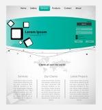Molde criativo da Web com mapa. ilustração do vetor