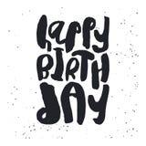 Molde criativo do cartão do feliz aniversario Imagem de Stock Royalty Free