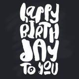 Molde criativo do cartão do feliz aniversario Imagens de Stock Royalty Free