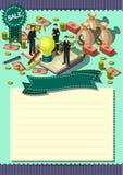 Molde criativo do projeto do papel do vetor do folheto do inseto do molde do dinheiro Foto de Stock Royalty Free