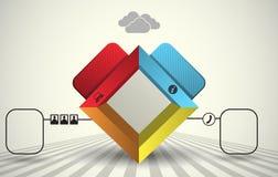 molde 3d de 4 partes, elemento infographic Fotografia de Stock