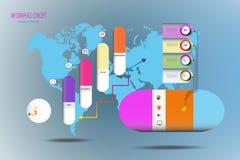 Molde 3D do timline de Iinfographic com ícone para o mercado ilustração do vetor