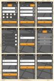 Molde da aplicação web para telefones Foto de Stock Royalty Free