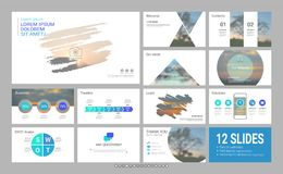 Molde da apresentação com elementos infographic ilustração do vetor