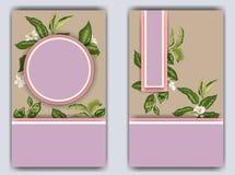 Molde da bandeira com ramos e flores do citrino Flor na ROM Imagens de Stock