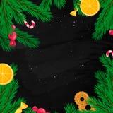 Molde da bandeira do Natal Elemento do projeto do feriado de inverno Objeto do ano novo Fotografia de Stock Royalty Free
