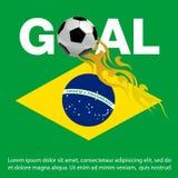 Molde da bandeira do projeto do futebol/futebol, ilustração do vetor do fundo do futebol/futebol Fotos de Stock Royalty Free
