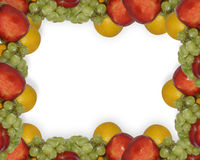 Molde da beira da página da fruta fresca foto de stock royalty free