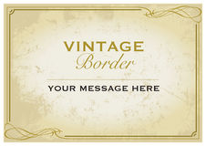 Molde da beira do vintage Foto de Stock Royalty Free