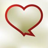 Molde da bolha do discurso do coração. + EPS8 Foto de Stock Royalty Free