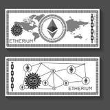 Molde da cédula de Etherium ilustração royalty free