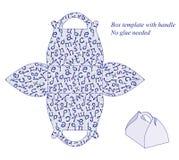 Molde da caixa com teste padrão do alfabeto Ilustração Royalty Free