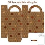 Molde da caixa de presente com gofer Fotos de Stock Royalty Free