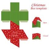Molde da caixa de presente do Natal ilustração do vetor