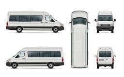 Molde da camionete de passageiro ilustração stock