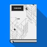 Molde da capa do livro/cartaz Fotos de Stock