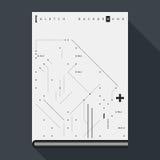 Molde da capa do livro/cartaz do pulso aleatório com elementos simples do projeto geométrico Imagens de Stock