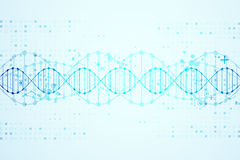 Molde da ciência, fundo das moléculas do ADN ilustração royalty free