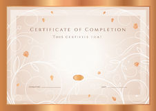 Molde da concessão do certificado/diploma. Quadro Fotografia de Stock