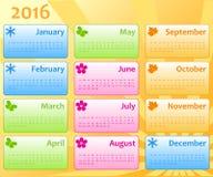 Molde 2016 da cor do calendário Fotos de Stock