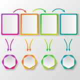 Molde da cor para o design web Foto de Stock Royalty Free