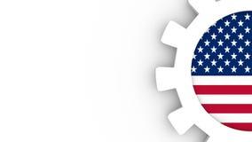 Molde da disposição do negócio Indústria dos EUA ilustração do vetor