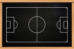 Molde da estratégia do jogo do futebol ou de futebol Imagem de Stock