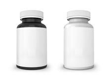 Molde da garrafa branca e preta ilustração do vetor