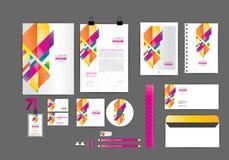 Molde da identidade corporativa dos harmories da cor para seu negócio Fotos de Stock