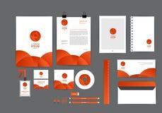 Molde da laranja e da identidade corporativa do círculo para seu negócio Fotografia de Stock Royalty Free