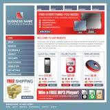 Molde da loja da tecnologia do Web site do Internet ilustração do vetor