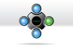 Molde da navegação do Web ilustração stock