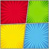 Molde da página da banda desenhada Imagens de Stock Royalty Free