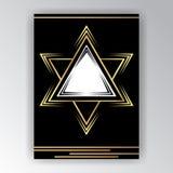Molde da página de Art Deco ilustração stock