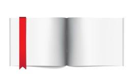 Molde da página em branco do compartimento para a disposição de projeto Fotos de Stock Royalty Free